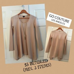GO COUTURE Scoop Neck Long Sleeve Sweater